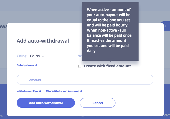 Auto withdrawal