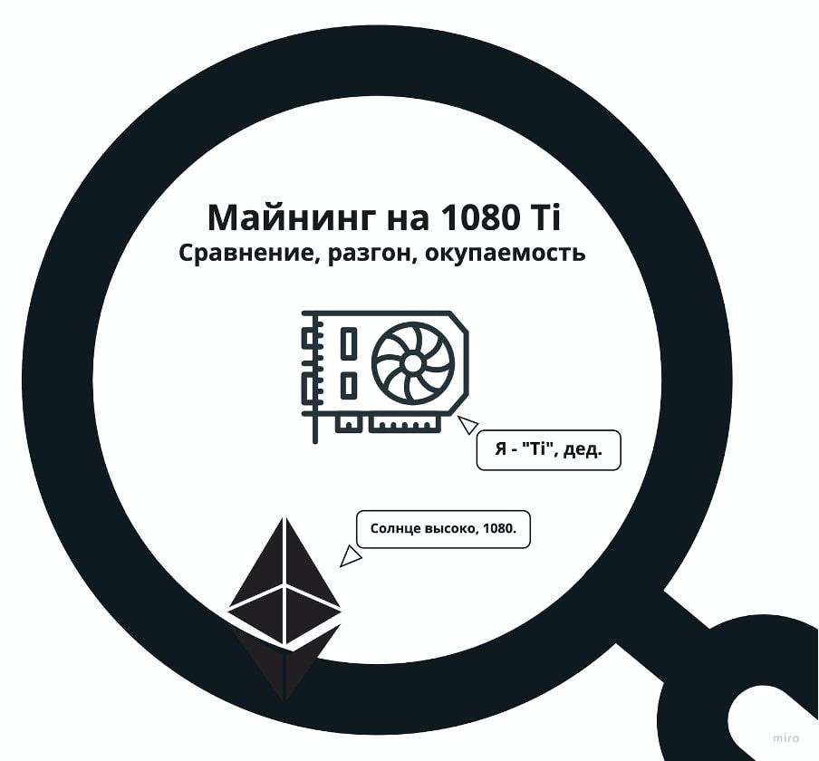 Майнинг Эфира и альткоинов на 1080 и 1080 Ti: подсчет доходности, настройка майнинга и разгон