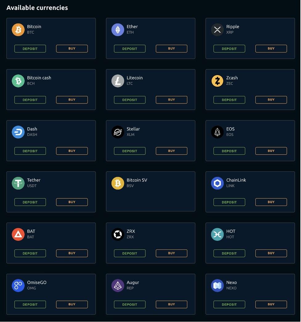 Криптовалютные кошельки под каждую валюту
