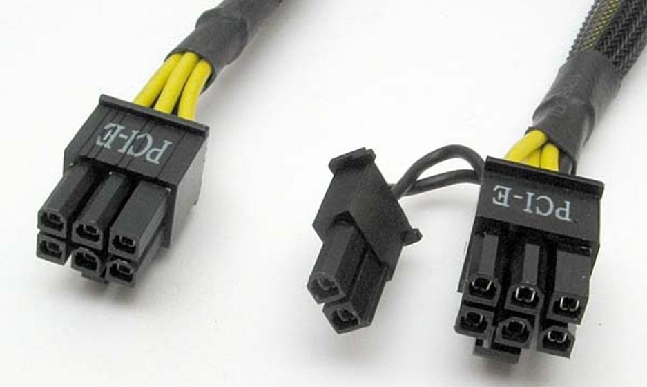 Разъемы кабелей питания PCI-E