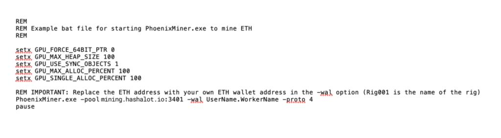 Phoneix Miner - файл start_miner.bat